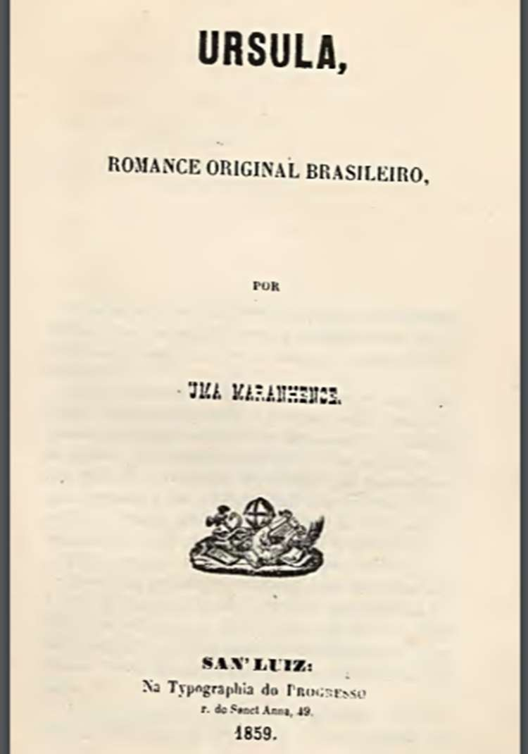 1° capa do livro: Úrsula - primeiro romance brasileiro