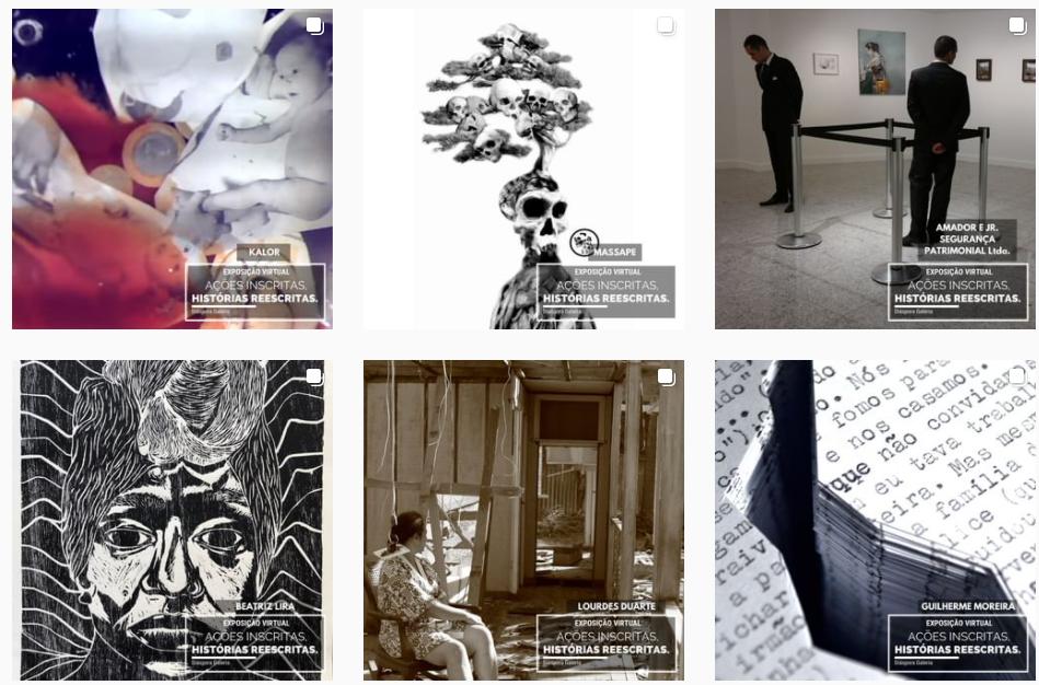 Obras em exposição na Galeria Diáspora. (Foto: Reprodução/ Galeria Diáspora)