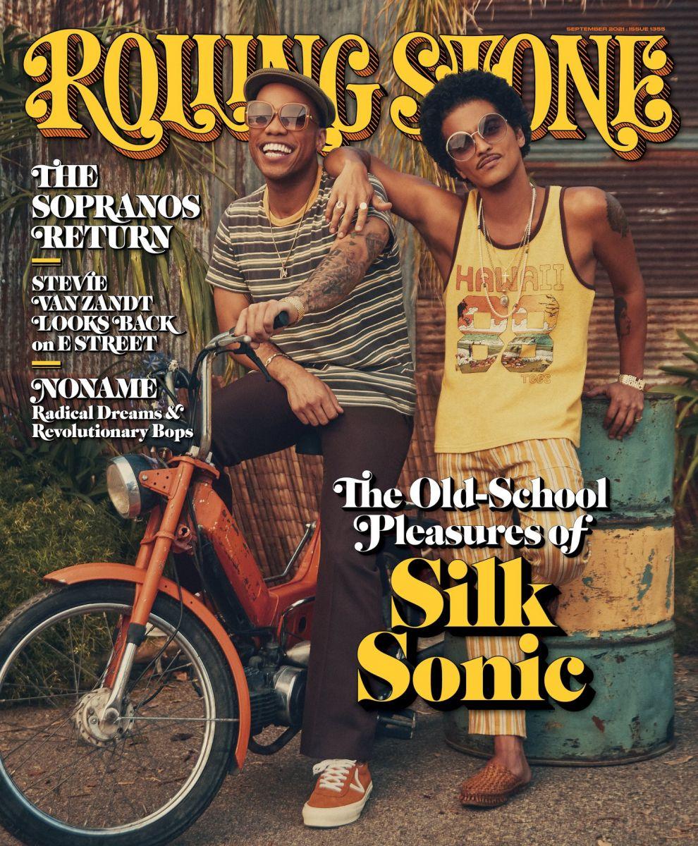 Bruno Mars e Anderson Paak são a capa da edição de setembro da revista Rolling Stones. Foto/Reprodução: Revista Rolling Stones.