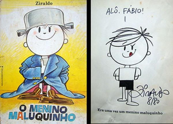 Capa e primeira página do livro: O Menino Maluquinho//Ziraldo