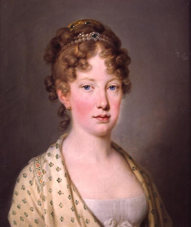 Pintura registrando a Imperatriz Leopoldina   Reprodução: Google Imagens
