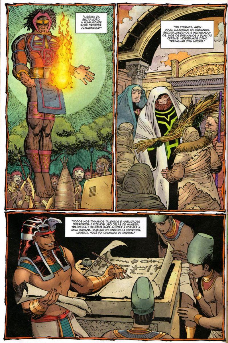 Os Eternos auxiliaram na evolução do ser humano. / Fonte: Marvel Comics.