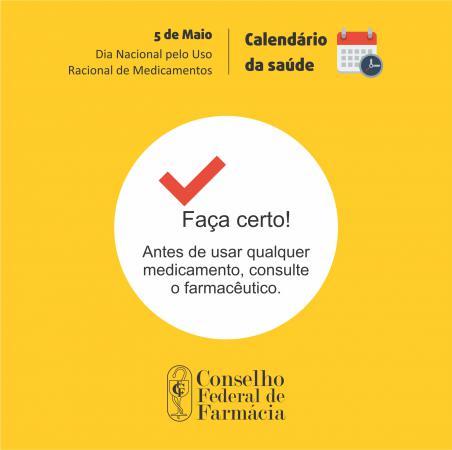 Imagem: Conselho Federal de Farmácia.