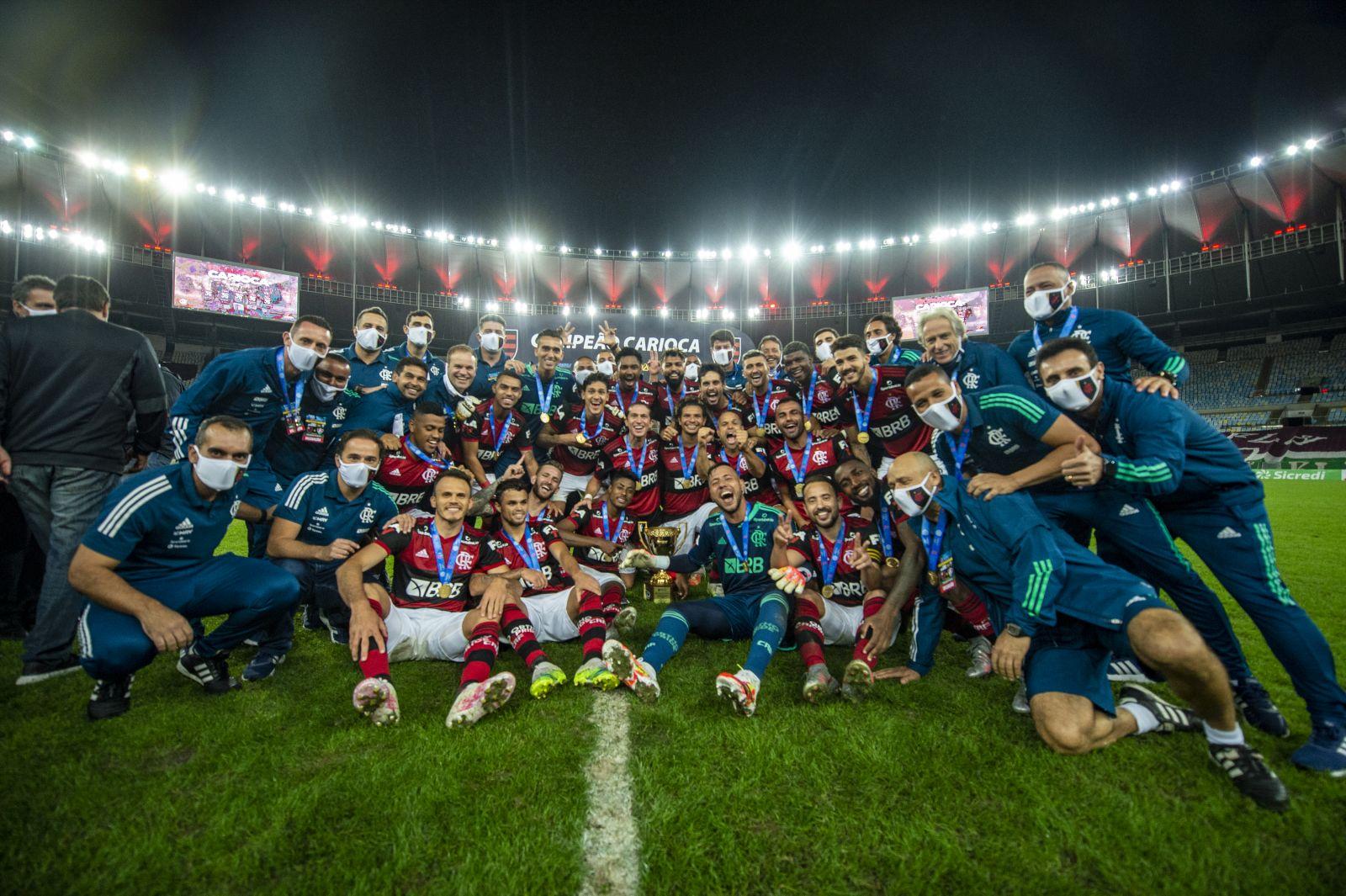 O Flamengo é o atual campeão e o time que detém mais títulos do Campeonato Carioca (Reprodução: Marcelo Cortes)