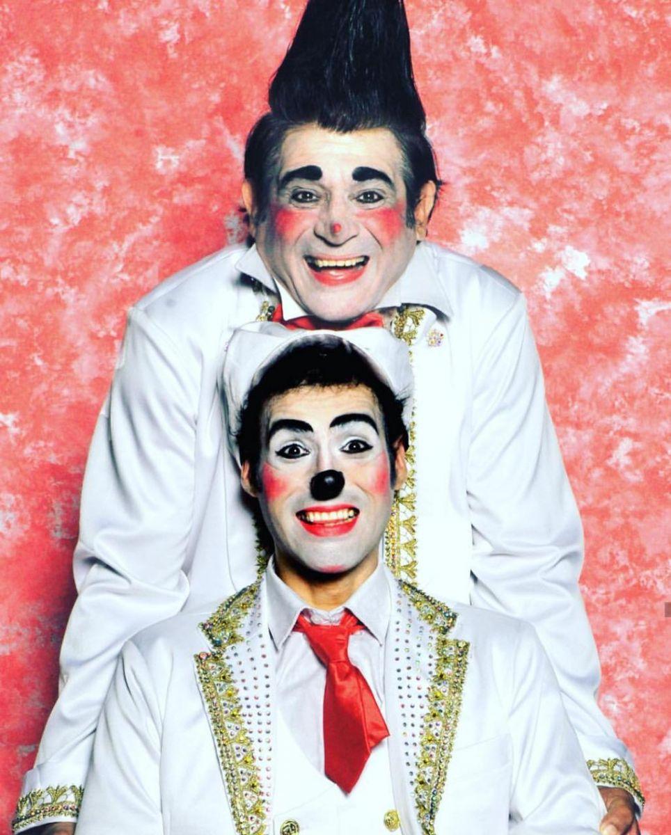 Palhaços Moroco e Matraca. Pai e Filho no Le Cirque Amar.