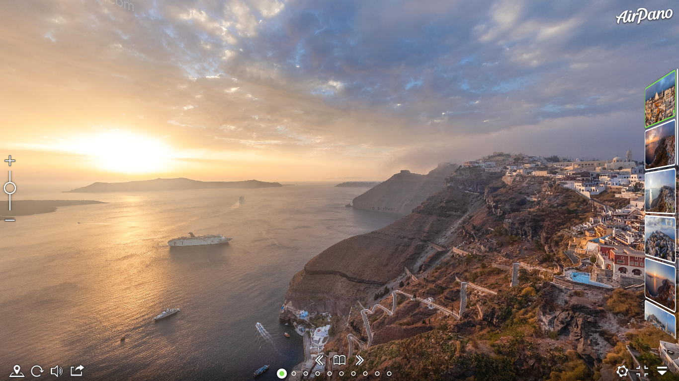 Santorini, Grécia via Airpano