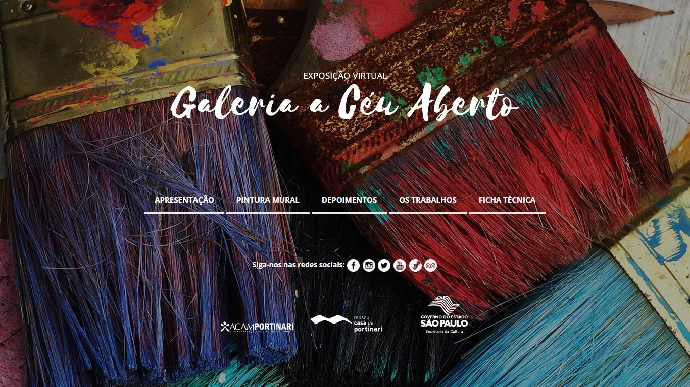 Exposição Virtual, Galeria a Céu Aberto, Museu Casa De Portinari