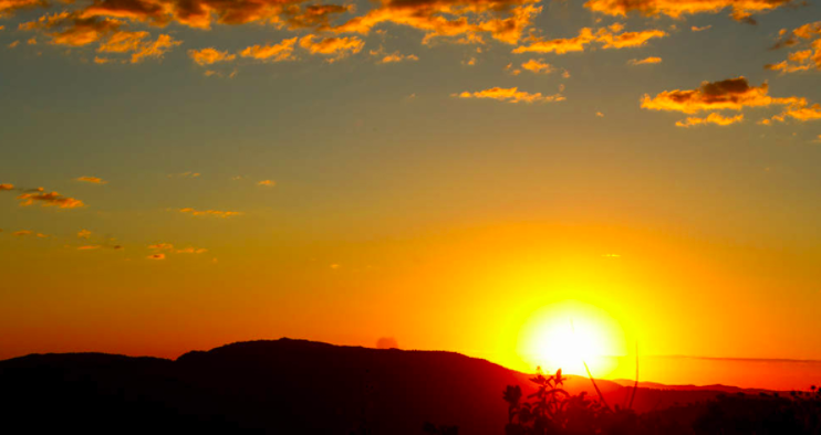 Pôr do sol no mirante do Ventilador