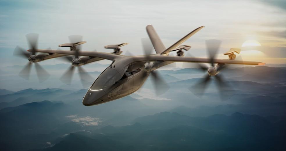 Conceito do VA-XA, da fabricante Vertical Aerospace. Modelo faz parte do acordo entre Gol e a irlandesa Avolon. Foto: Reprodução/Vertical Aerospace