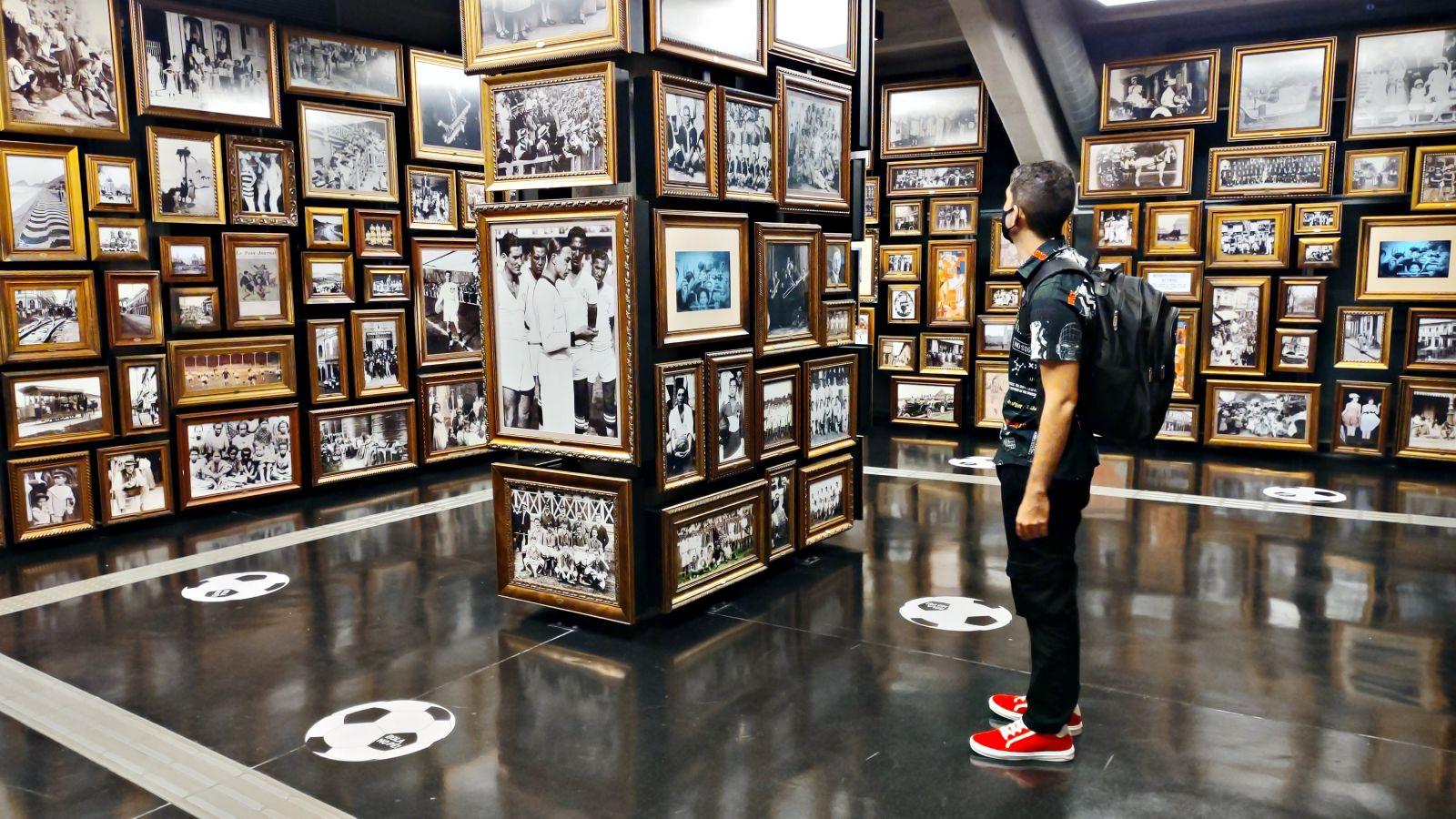 Sala das origens no Museu do Futebol. (Foto por Dayane Cibelle)