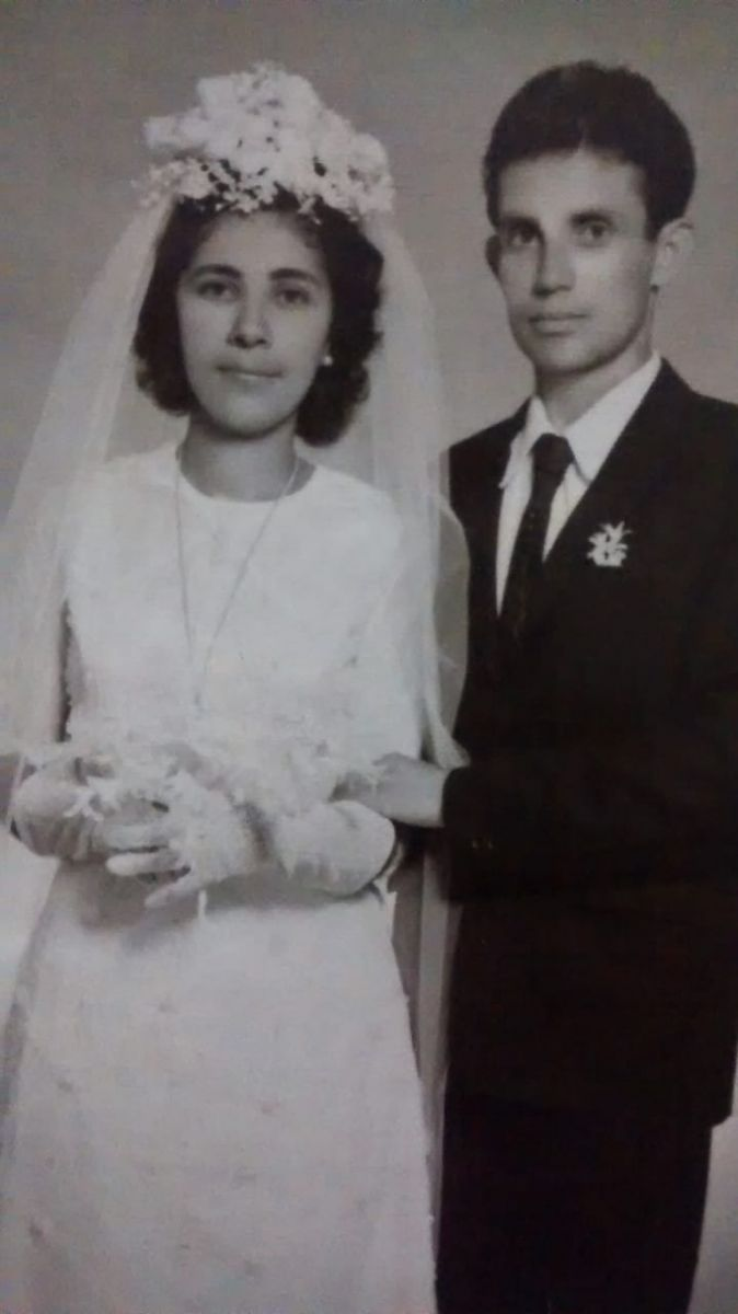 Álvaro e sua esposa,Tereza, em 1972