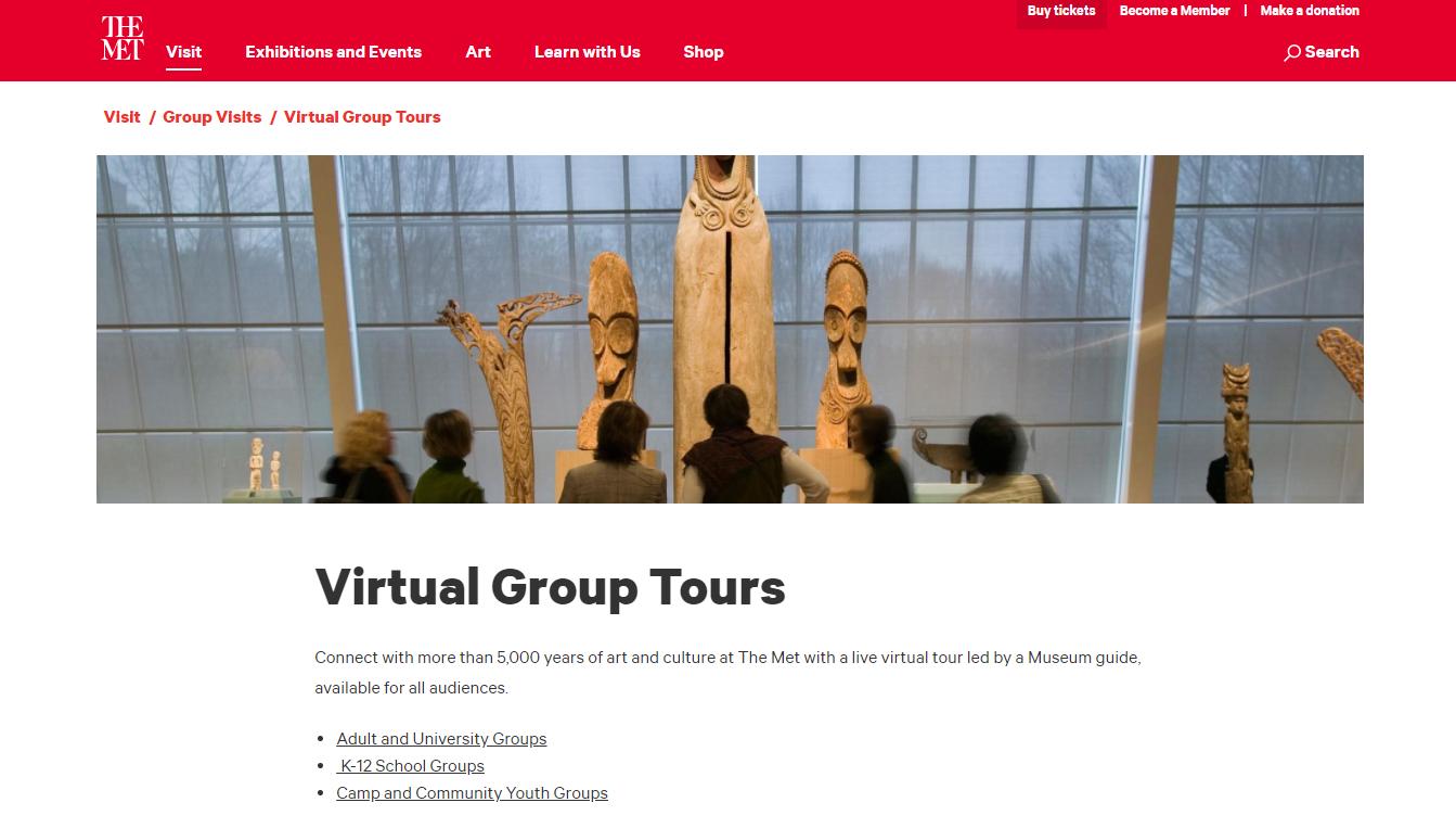 Plataforma com passeios virtuais em grupos