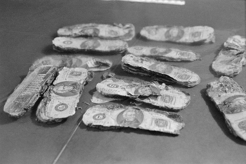 Dinheiro encontrado em 1980 / Crédito: Getty Images