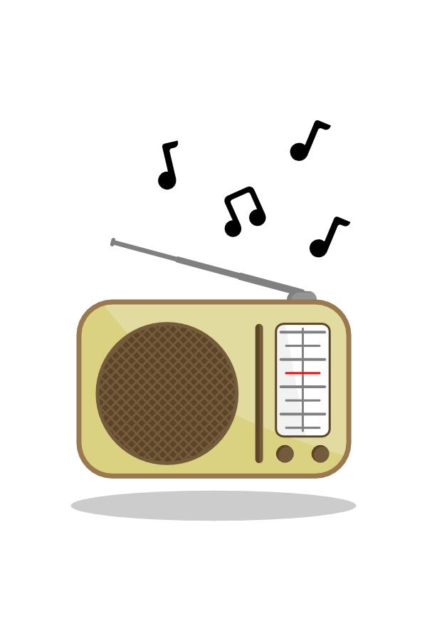 Ilustração: rádio vintage