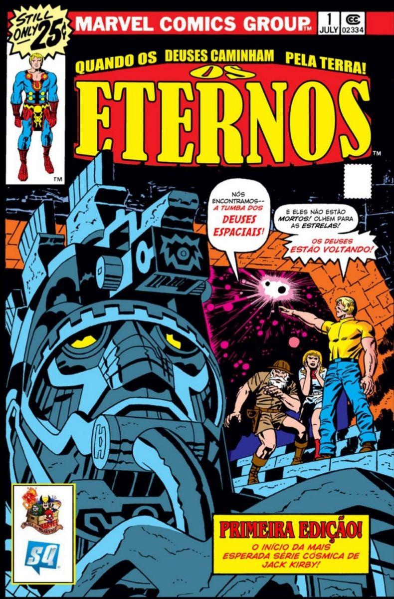 Primeira edição dos Eternos de Jack Kirby / Fonte: Marvel Comics.