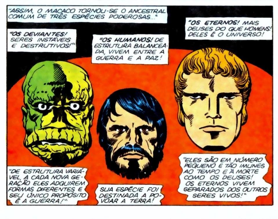 Os Deviantes, os Humanos e os Eternos foram criados pelos Celestiais. / Fonte: Marvel Comics