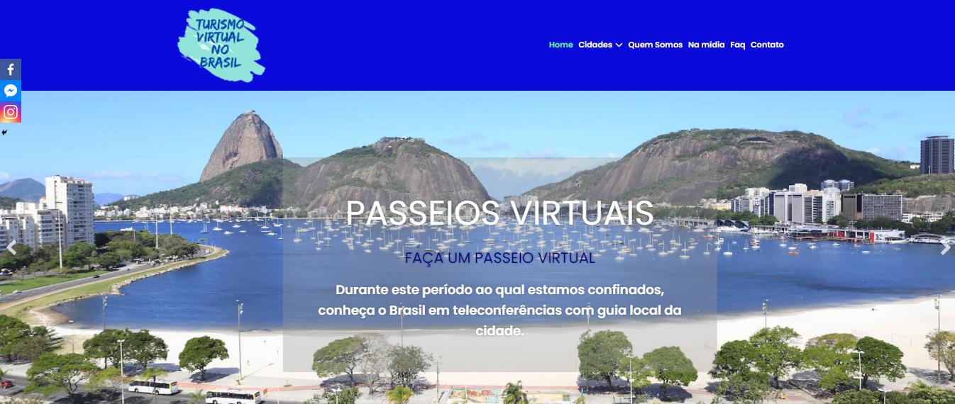 Plataforma com destinos virtuais pelo Brasil