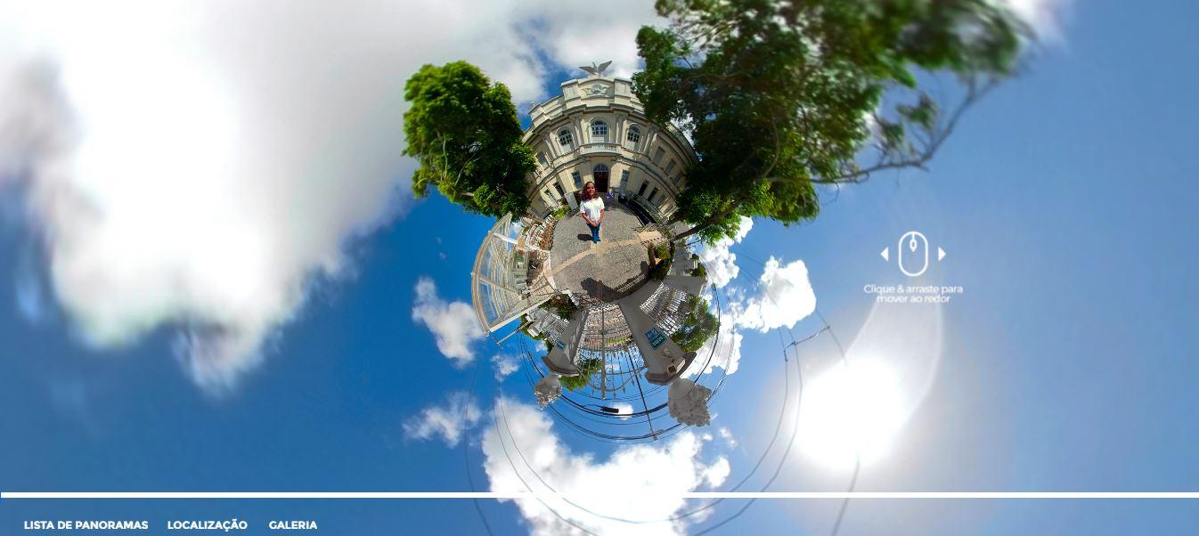 Foto: Museu da Gente Sergipana/Reprodução. Início da Tour Virtual.