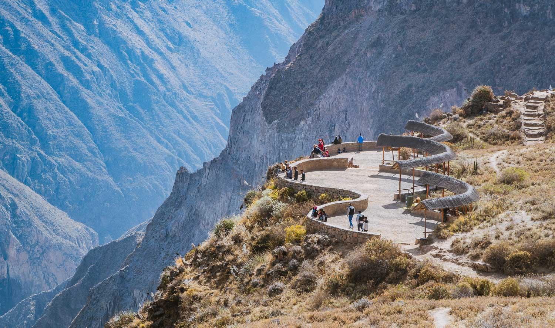Um cânion formado pelo rio Colca, no sul do Peru