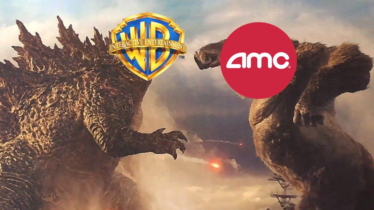 Cena do filme king kong vs godzilla. (Foto: Reprodução/ Legendary Pictures/ warner Bros. Pictures/ AMC/ Montagem: Jonathan Rosa)