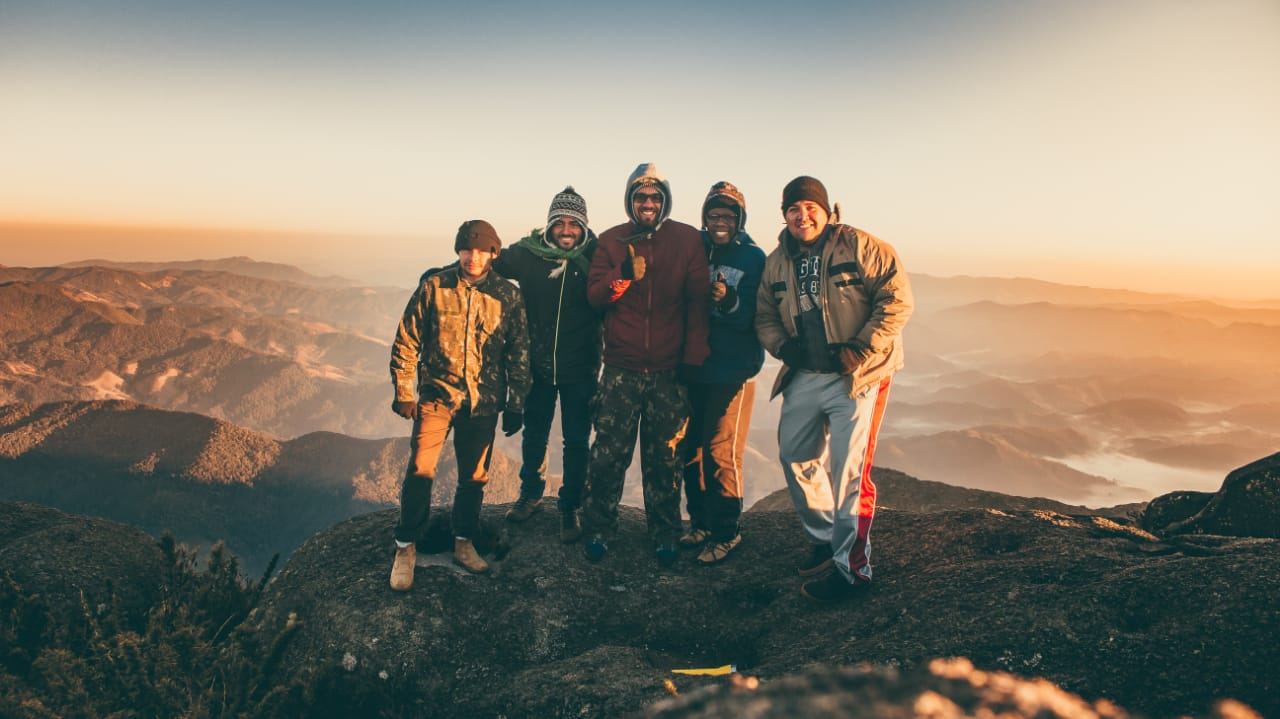 Jean e amigos no Pico do Marins em Piquete - SP