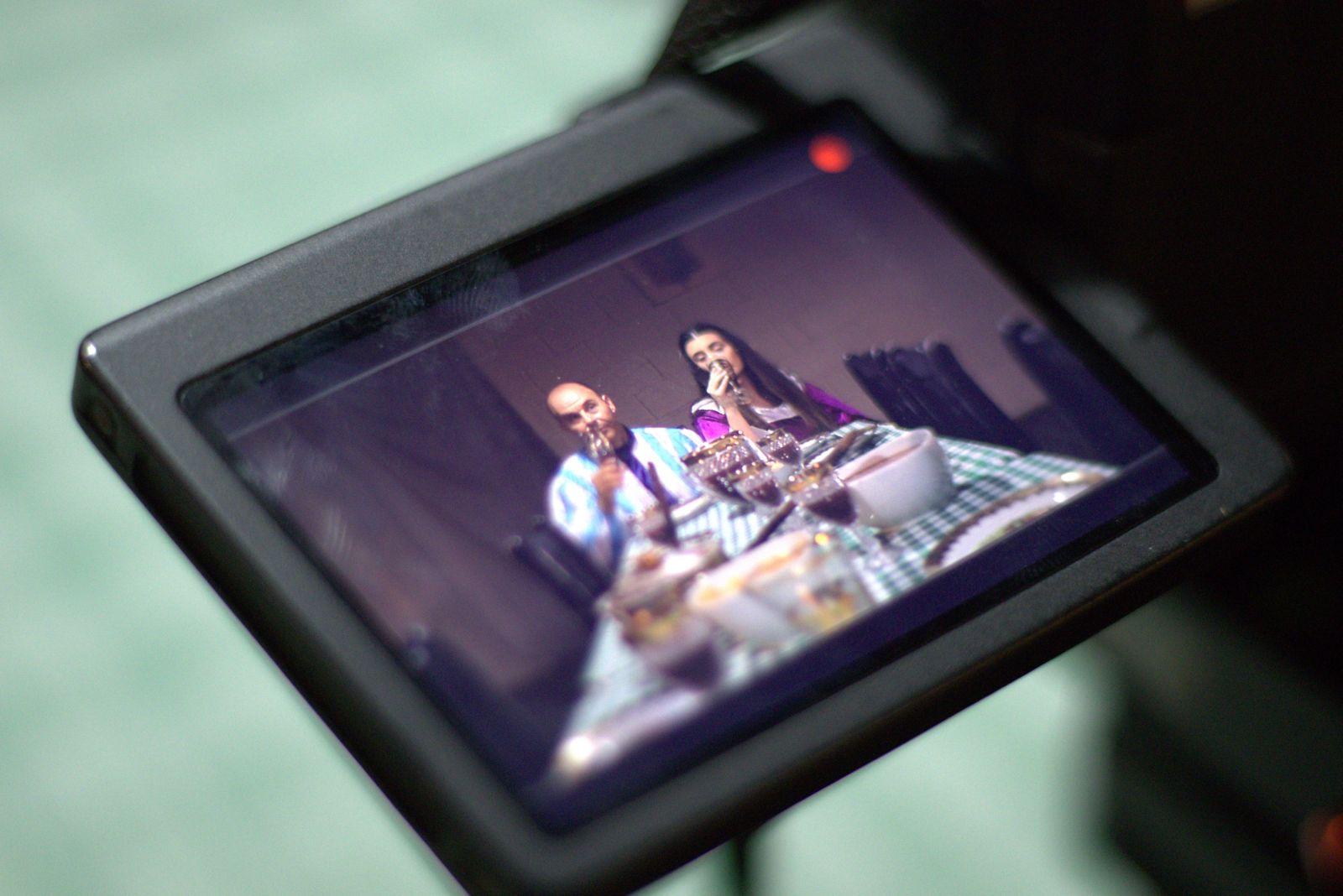 Imagem tirada no restaurante Cesário 's, que representa Gremilda e Grúmio.  Foto/Reprodução: Túlio Casagrande.