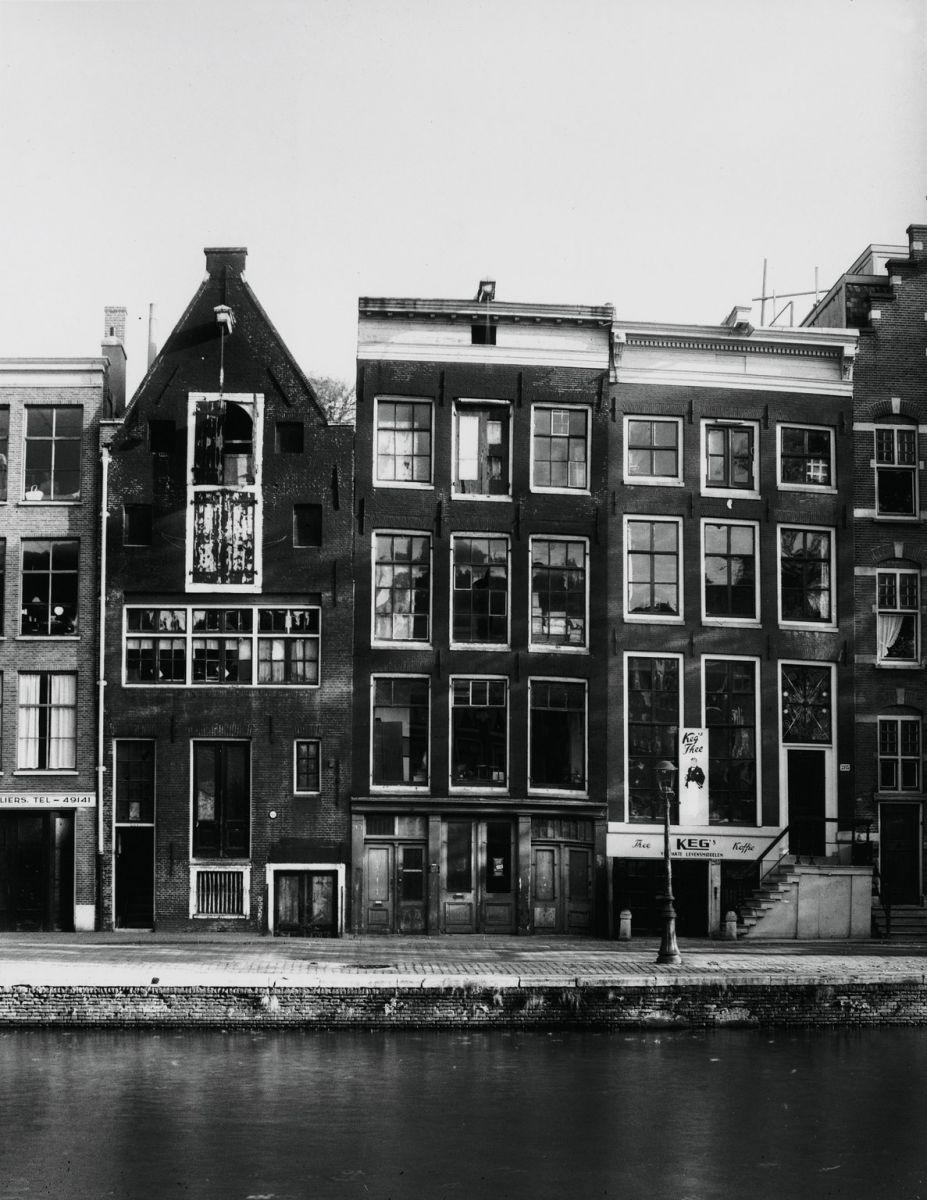 Instalações comerciais de Otto Frank, por volta de 1947.