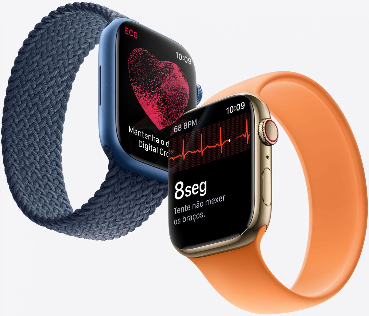 Novo Apple Watch Series 7. Foto: Reprodução/Apple