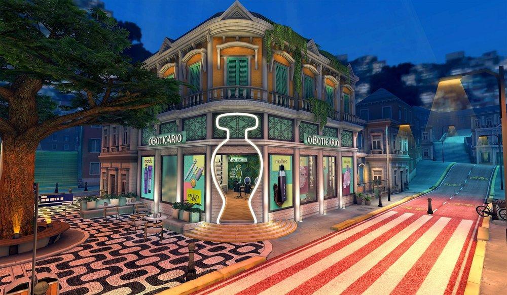 FONTE: Loja hub in-game de O Boticário no Avakin Life - Divulgação