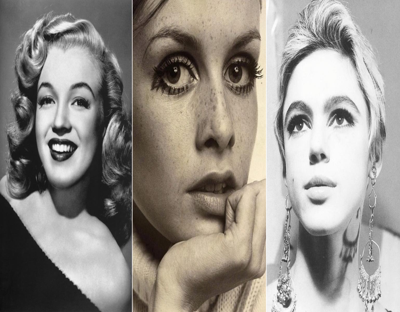 Da esquerda para a direita, Marilyn Monroe, Twiggy e Edie Sedgwick // Reprodução: Flickr