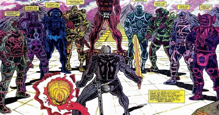Os Celestiais. / Fonte: Marvel Comics