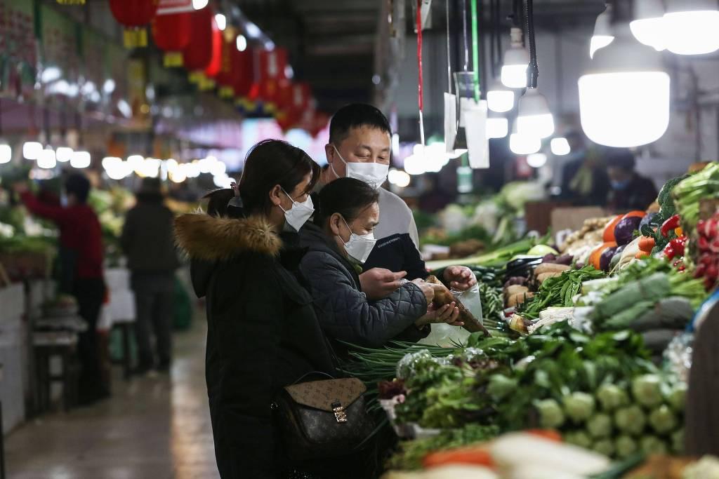 FONTE: procura por alimentos frescos e saudáveis crescem na China pós-pandemia/Reprodução: Folha de São Paulo