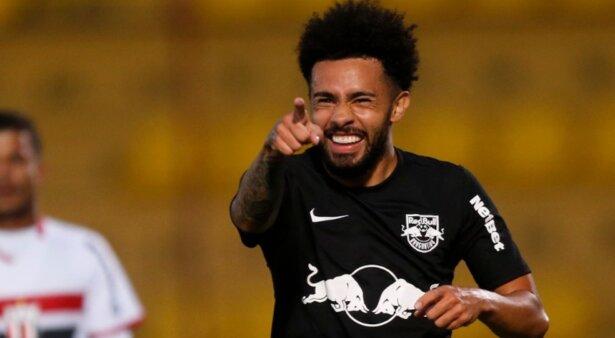 Claudinho comemora gol contra o Botafogo-SP. Foto: Ari Ferreira/Red Bull Bragantino