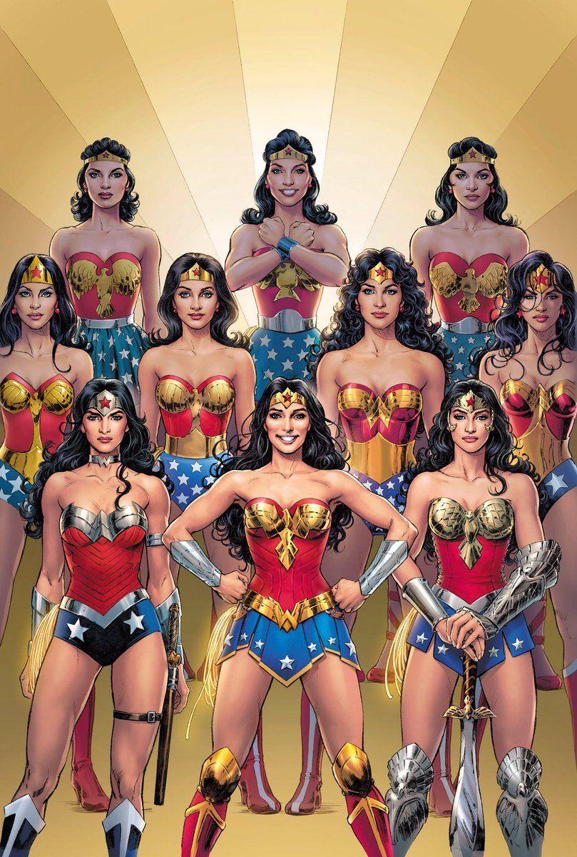 Arte para a HQ Wonder Woman #750