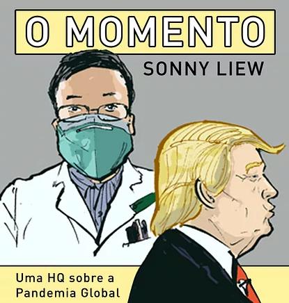 FONTE: Capa da HQ O Momento / REPRODUÇÃO: Pipoca & Nanquim