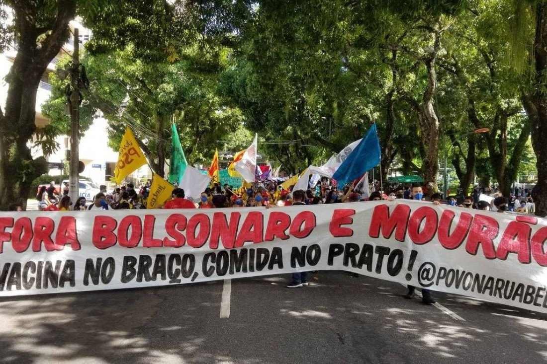 Manifestação em Belém do Pará (Foto: Paulo Nassar/Twitter)
