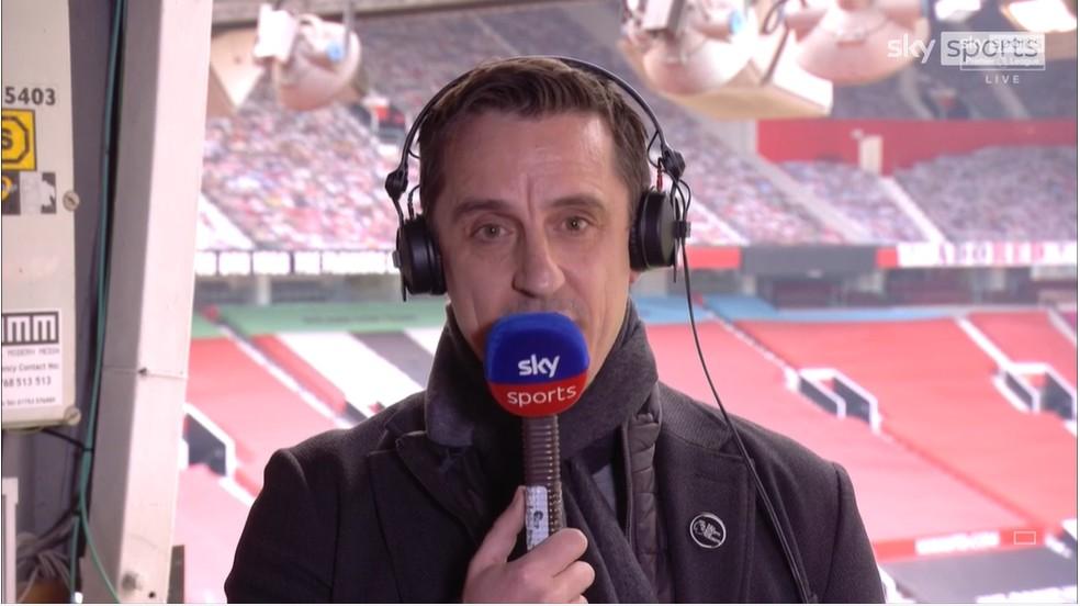 Gary Naville, ex-jogador do Manchester United (Foto: Reprodução/Sky Sports)