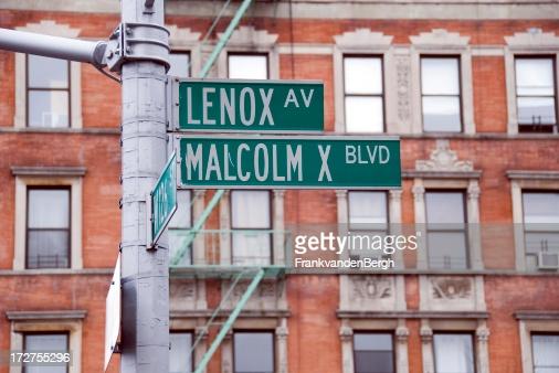 Placa com nome de Malcolm no Halem