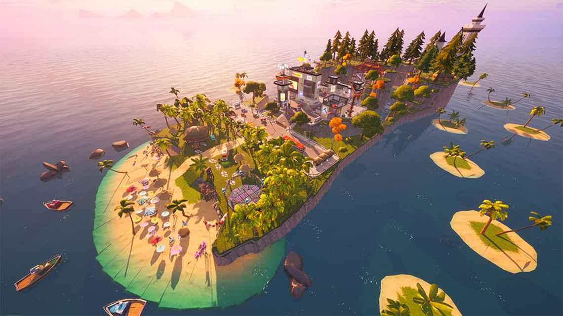FONTE: Divulgação Ilha do Verão Havaianas - Fortnite