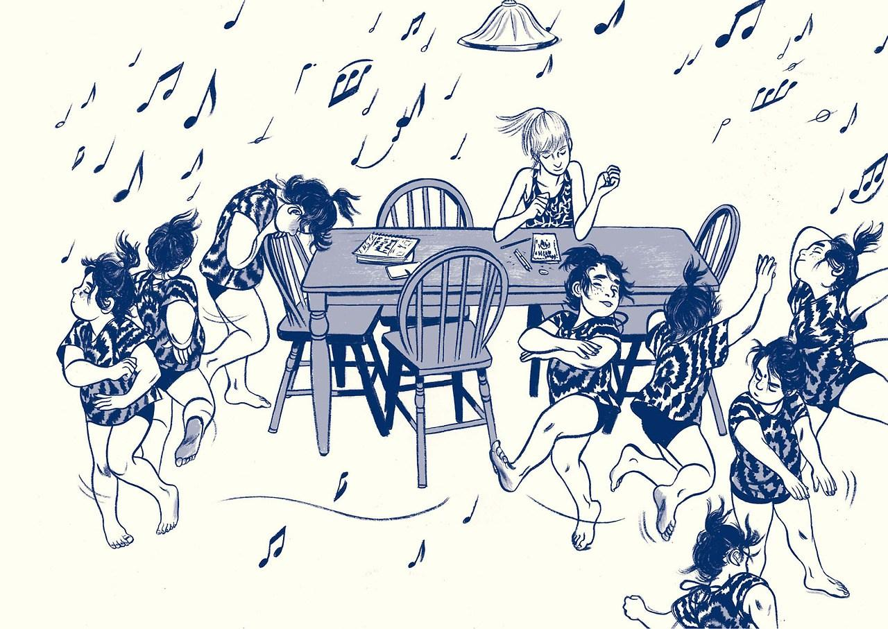 (Cena de 'Aquele Verão'. Reprodução: Editora Mino)