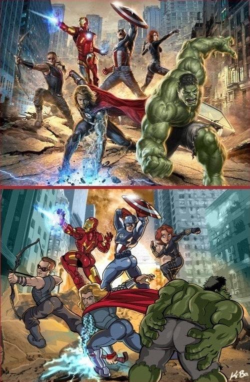 Re-ilustração do poster dos Vingadores