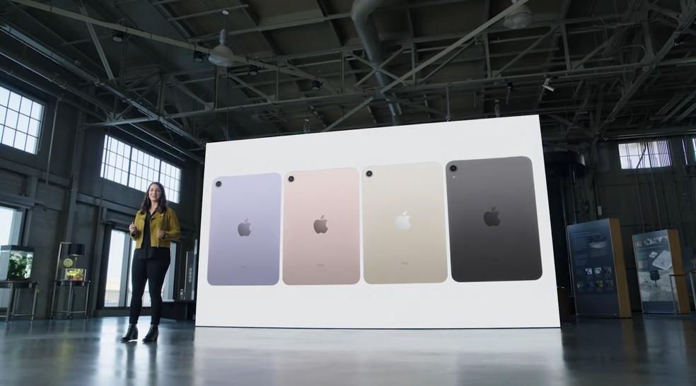 Quatro cores do iPad Mini. Foto: Reprodução/Apple
