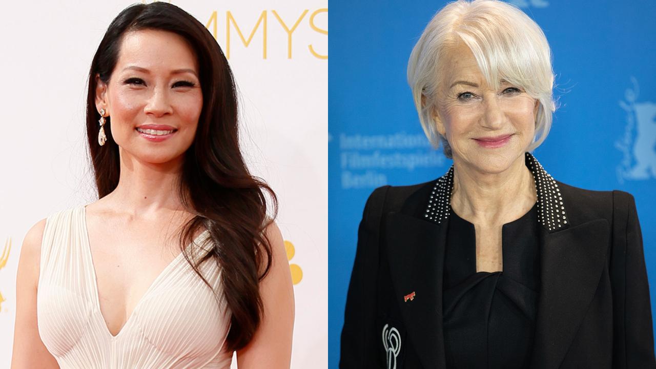 Lucy Liu e Helen Mirren, respectivamente