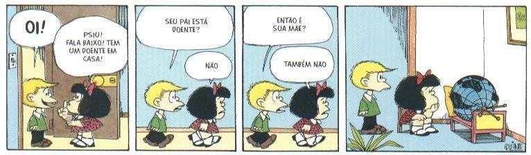 Tirinha de Mafalda
