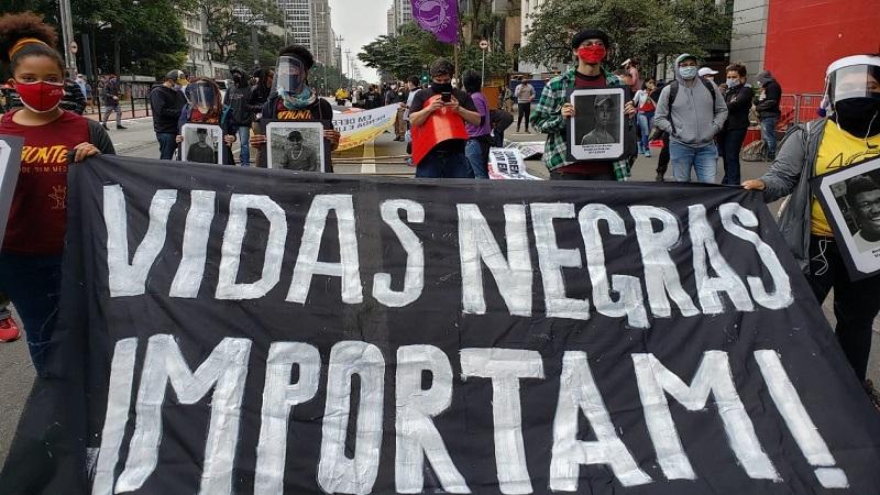O movimento BLM inspirou manifestações no Brasil. (Foto: Pedro Borges/Alma Preta)