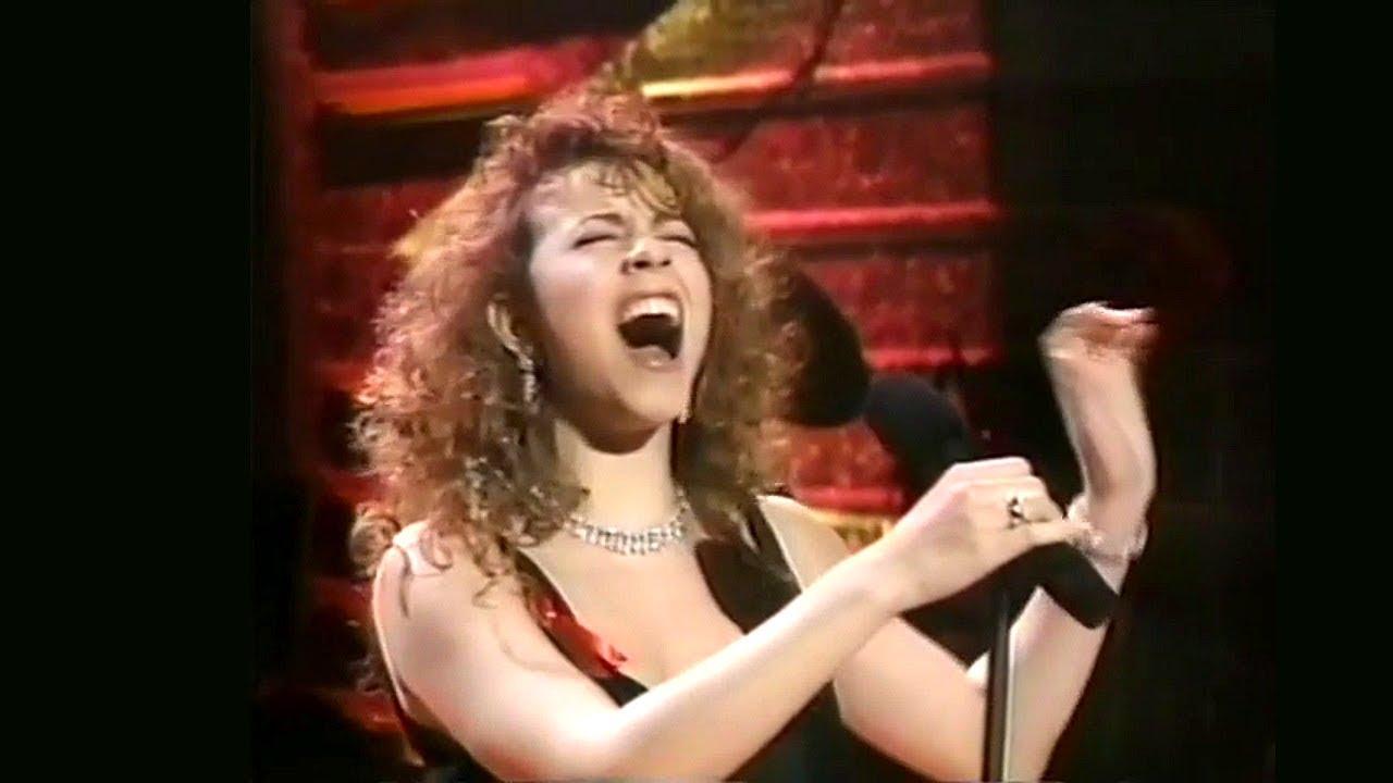 Reprodução/ Mariah Carrey no Grammy de 1992