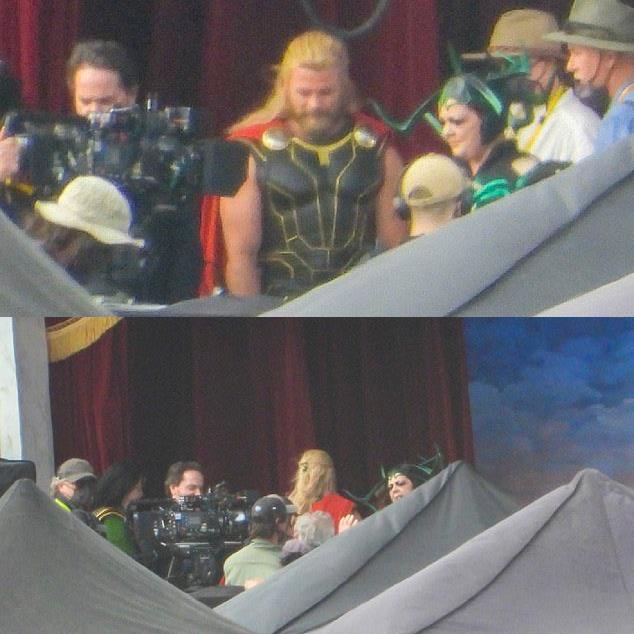 Melissa MacCarthy como atriz asgardiana vestida de Hela / Fonte: Daily Mail