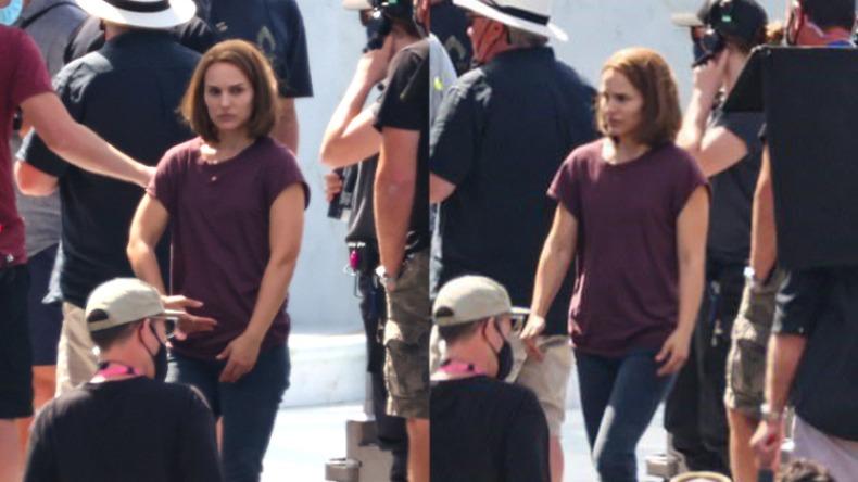 Natalie Portman no set de filmagem / Reprodução: O Vício