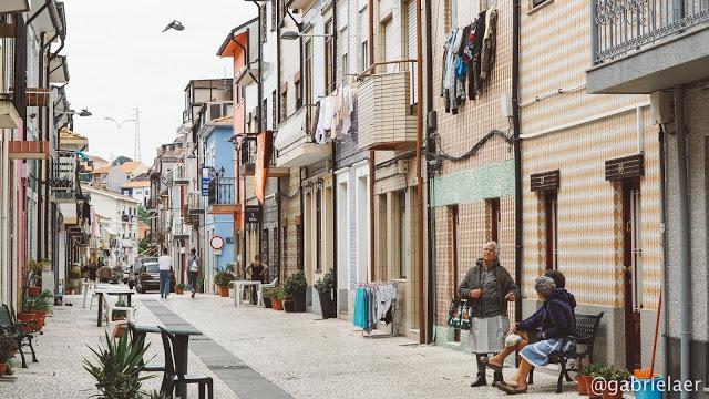 Lembrança de uma das ruas de Porto (Foto: Arquivo Pessoal)