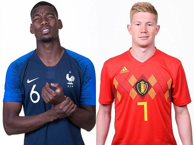 Pogba e De Bruyne, rivais em Manchester e na Nations League
